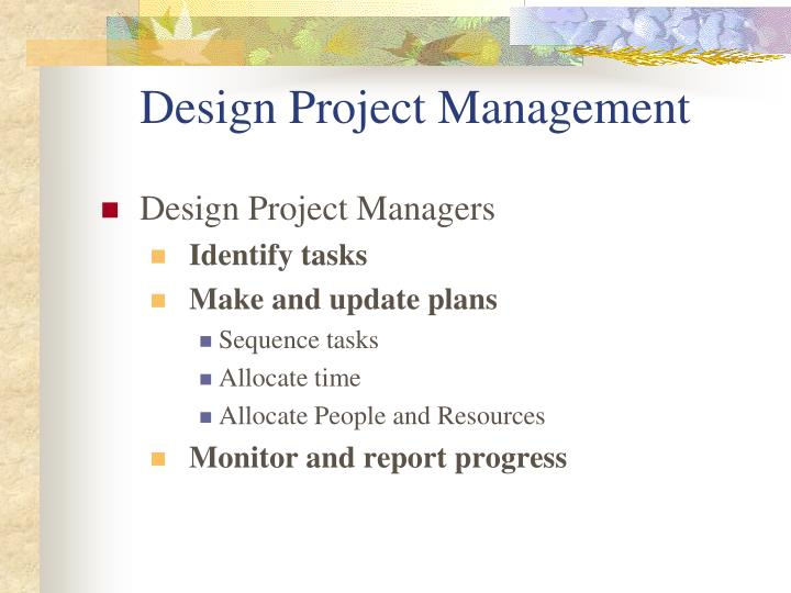 Design project management