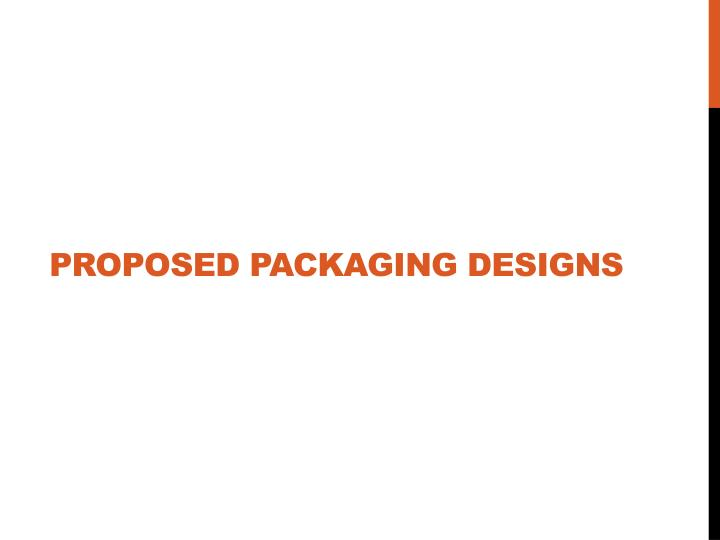 Proposed Packaging Designs