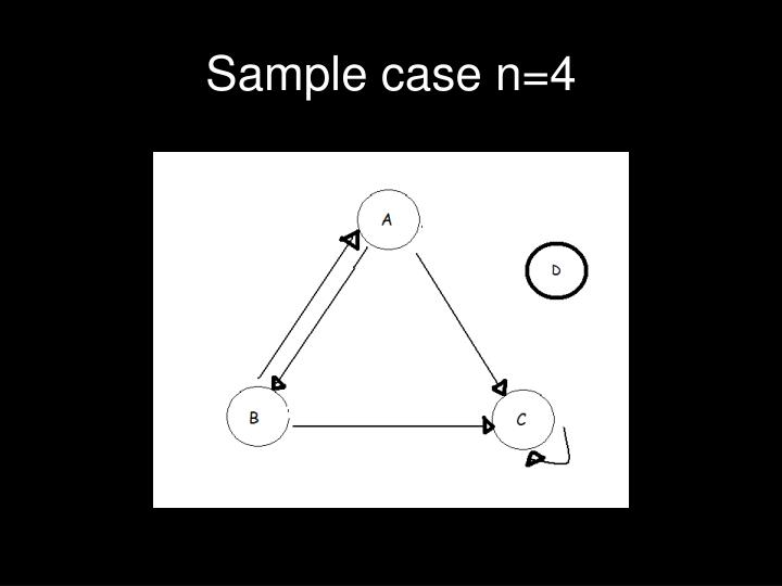 Sample case n=4