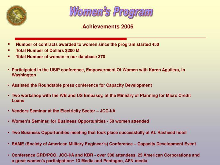Achievements 2006