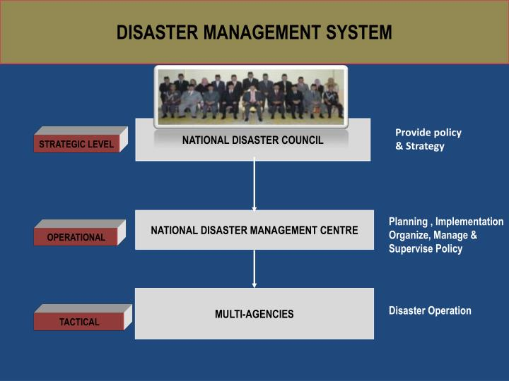 implementation of national disaster management act Implementation of the hyogo framework for action in national disaster management mechanisms they are organized and prepared and they act.