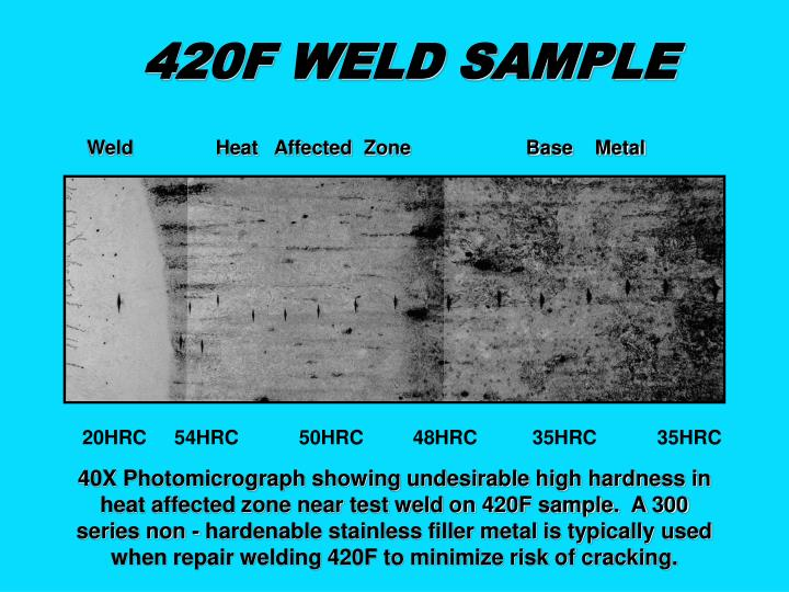 420F WELD SAMPLE