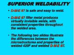 superior weldability