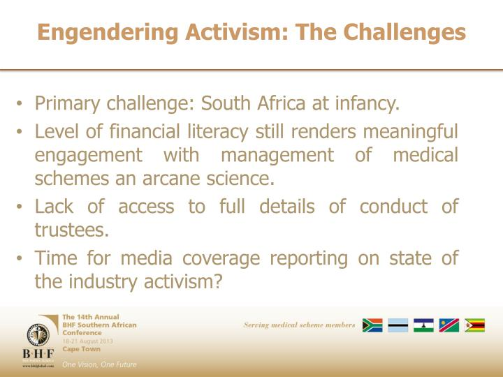 Engendering Activism: The Challenges