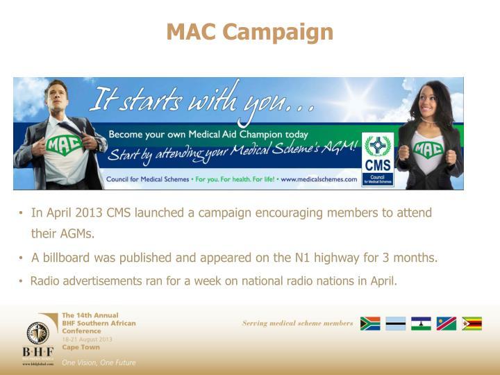 MAC Campaign