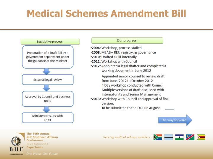 Medical Schemes Amendment Bill