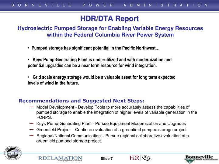 HDR/DTA Report