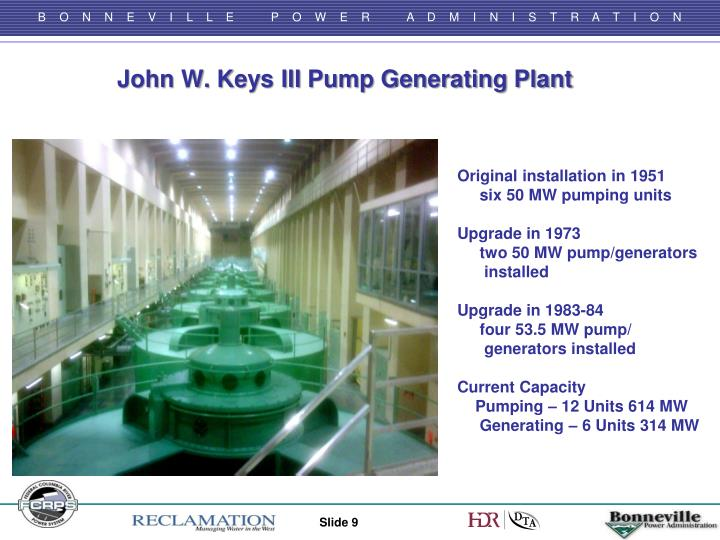 John W. Keys III Pump Generating Plant