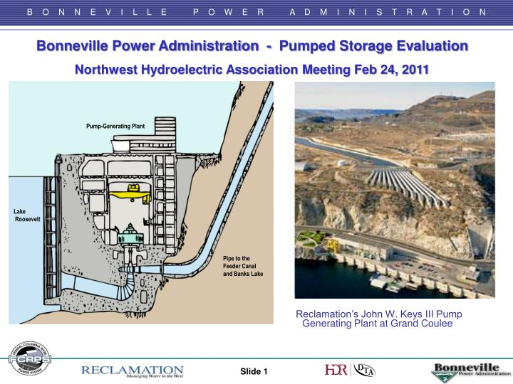 Bonneville Power Administration  -  Pumped