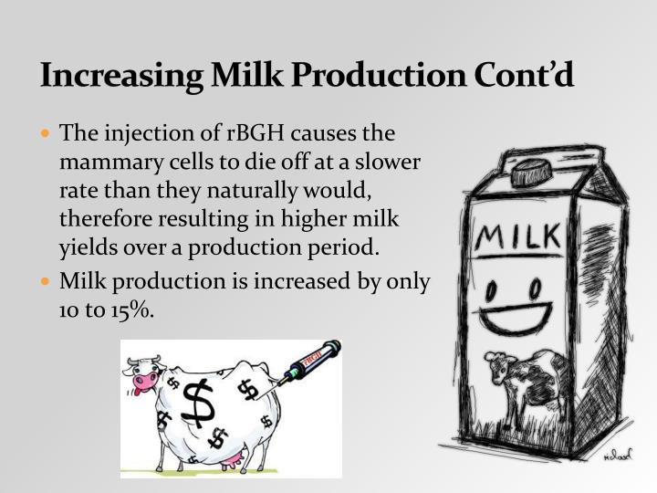 increasing milk production is the key