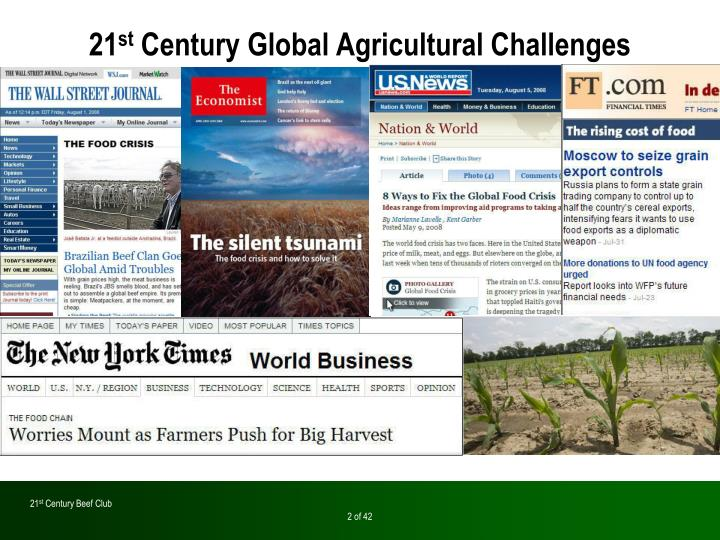 21 st century global agricultural challenges1