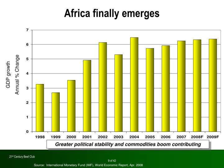 Africa finally emerges