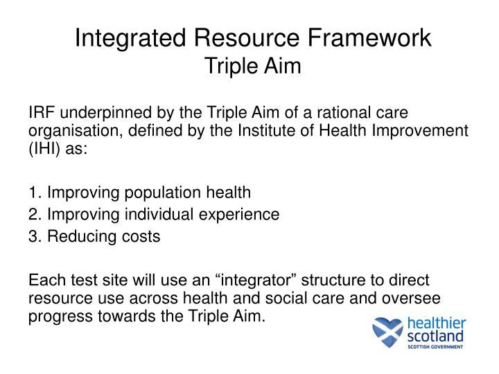 Integrated Resource Framework