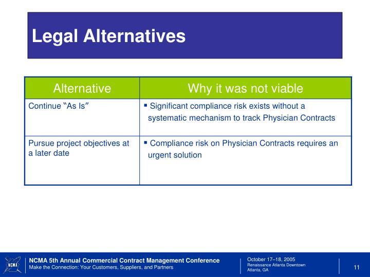 Legal Alternatives