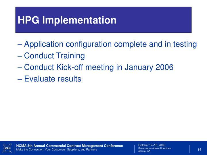 HPG Implementation