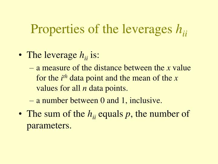 Properties of the leverages