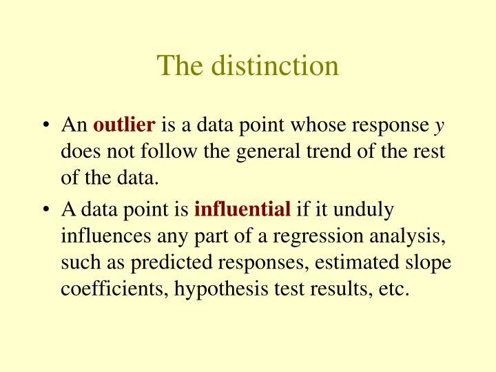 The distinction
