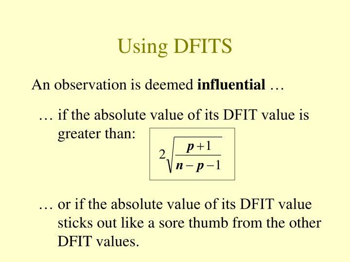Using DFITS