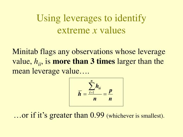 Using leverages to identify