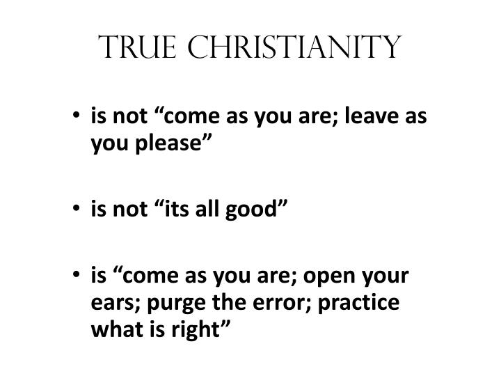 True christianity