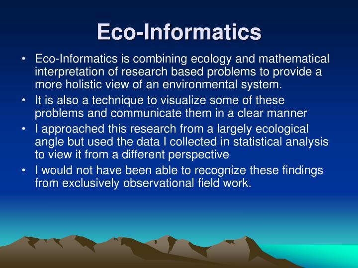 Eco-Informatics