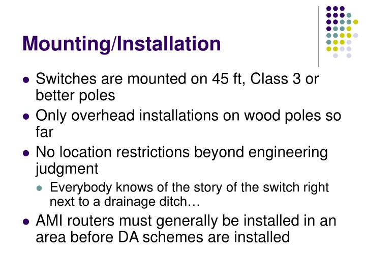 Mounting/Installation