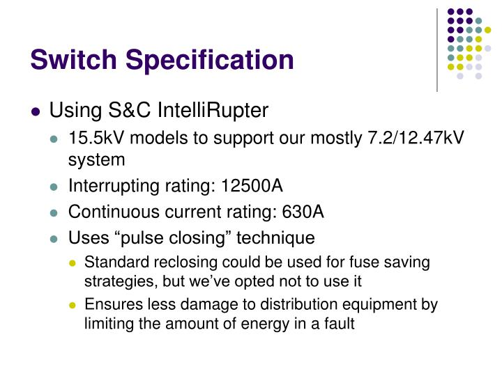 Switch Specification