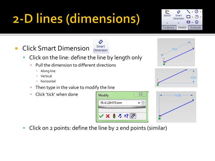 2-D lines (dimensions)