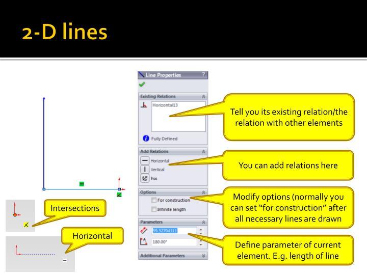2-D lines
