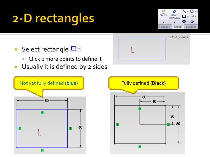 2-D rectangles