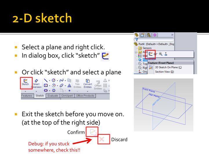 2-D sketch