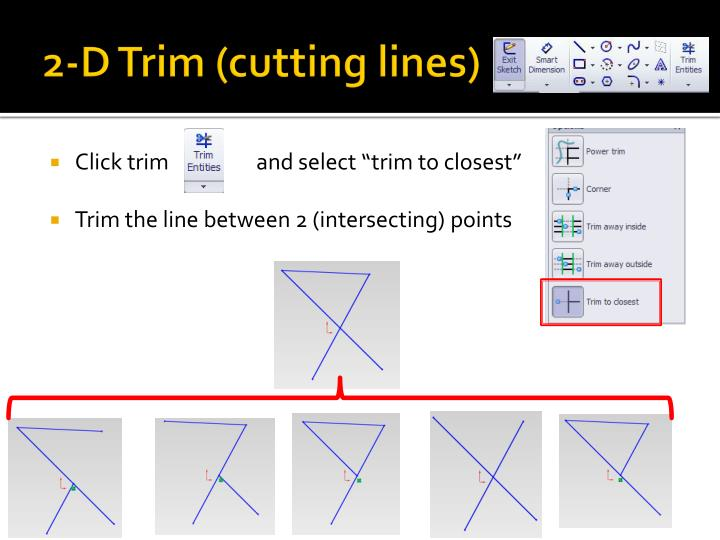 2-D Trim (cutting lines)
