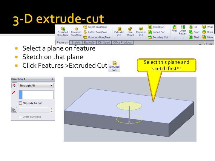 3-D extrude-cut