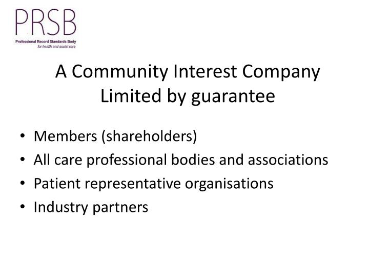 A Community Interest Company