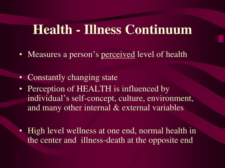 Health - Illness Continuum