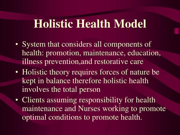 Holistic Health Model