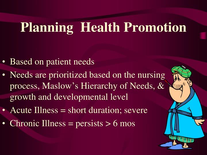 Planning  Health Promotion