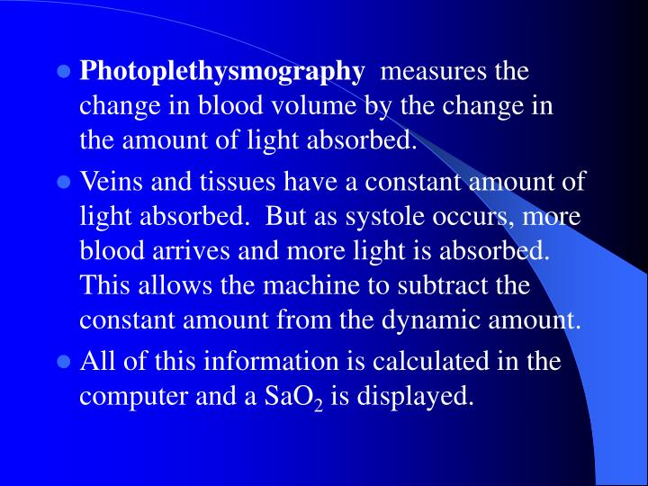 Photoplethysmography