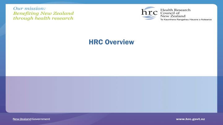 HRC Overview