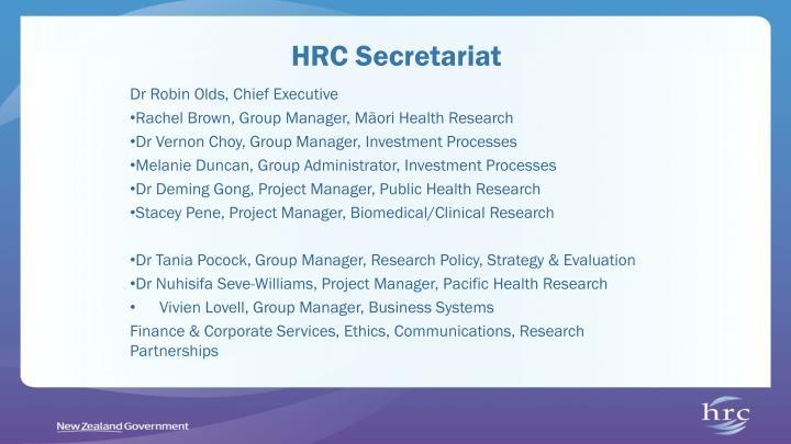 HRC Secretariat