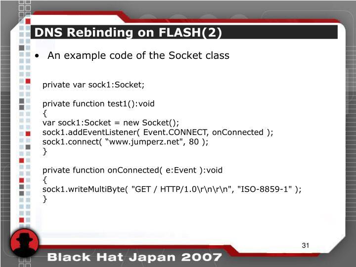 DNS Rebinding on FLASH(2)
