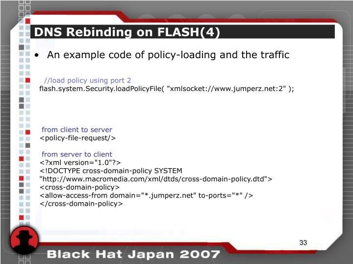 DNS Rebinding on FLASH(4)