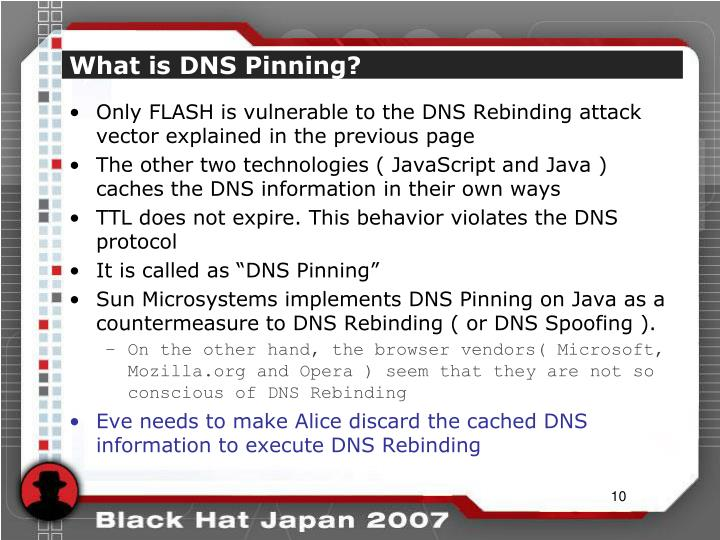 What is DNS Pinning?