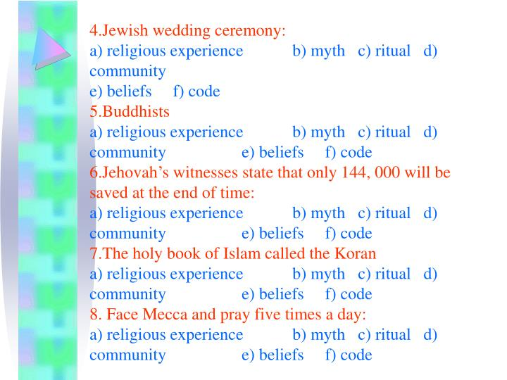 4.Jewish wedding ceremony: