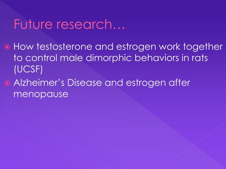 Future research…