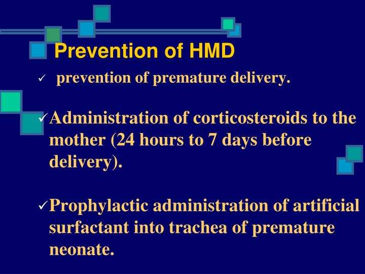 Prevention of HMD