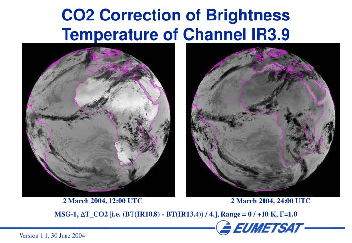 CO2 Correction of Brightness