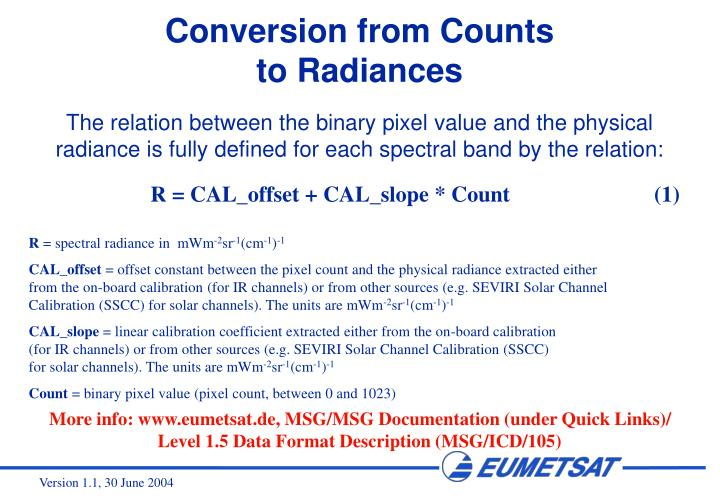 Conversion from Counts