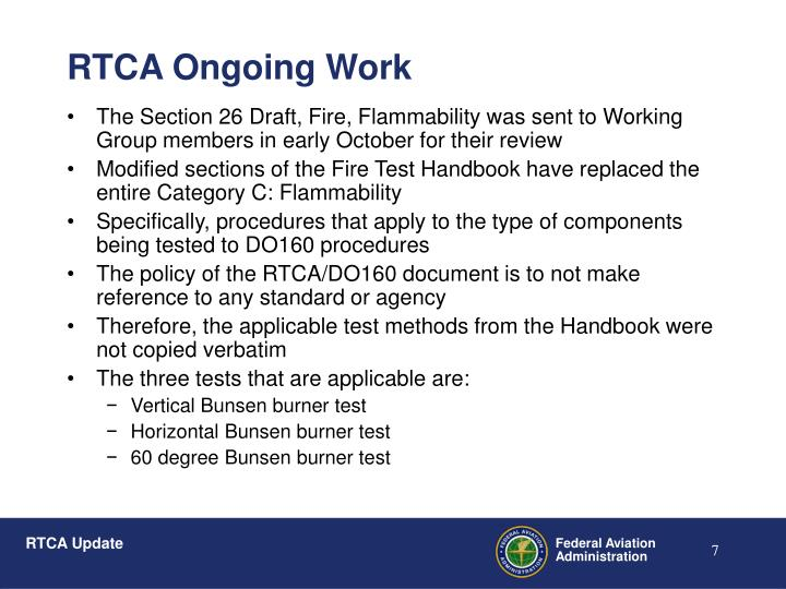 The Section 26 Draft, Fire, Flammability was sent to Working Group members in early October for their review