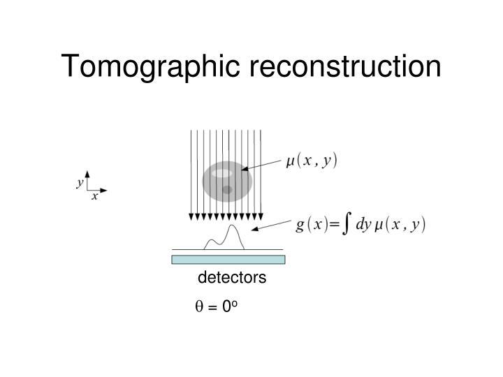Tomographic reconstruction